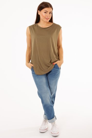 Loose Top Rio Olive Green